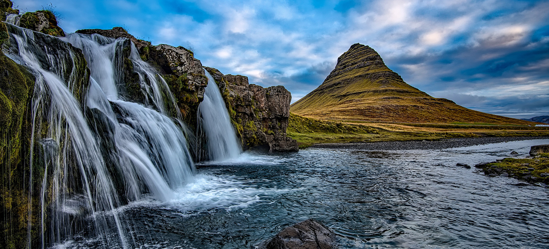 Kirkujellfoss, Iceland.  Photo by David Mark, all rights reserved.
